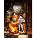 Mother Yasoda Binds Krishna With Ropes -- Damodar