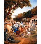 Krishna, Balaram and the Cowherd Boys go to the Forrest