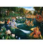 Krishna and Gopis Water Pastimes