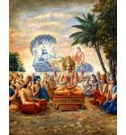 Lord Brahma and the Demigods Gather on the Shores of the Milk Ocean to Address Lord