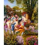 Krishna and the Cowherd Boys by the River Yamuna in Vrindavan