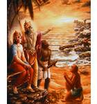 Lord Rama Building the Bridge to Lanka with his Monkey Soldiers