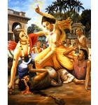 Lord Chaitanya Attacks Jagai & Madhai