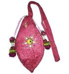 Deluxe Bead Bag - Decorated Both Sides with Pearls, Gems and Flowers
