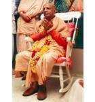 Srila Prabhupada in New York, Sitting in White Rocking Chair
