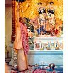 Srila Prabhupada at Krishna Balarama Temple Opening Aratik