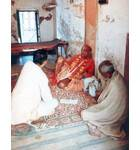 Srila Prabhupada at Radha Damodara Vrindaban, In room