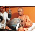 Srila Prabhupada at New Dvaraka, Playing Mrdanga at Studio