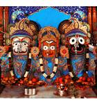Sri Sri Jagannatha, Baladeva and Lady Subhadra - Baroda, India