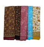 Sari, Synthetic Crepe, Very Soft 'Butter Sari'