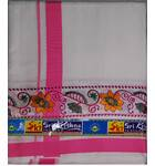Dhoti / Chadar -- Big Embroidery Borders with Flower and Leaf Patterns