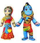 """Childrens Stuffed Toy: Lord Shiva with Parvati (Approx. 9"""" high))"""