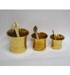 Achaman Cup / Panchpatra & Spoon -- Brass