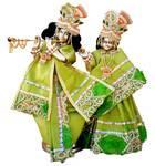 "Radha Krishna Deities (Brass 9"")"
