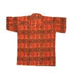 Kurta -- Om Print with Collar, Short Sleeves