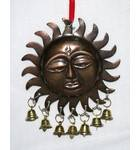 Hanging Surya / Sun Decoration with Bells (Pack of 3)