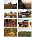 16 All-Attractive Braj-Mandal (Vrindavan) Post-Cards