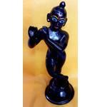 "Brass Black Krishna Standing (6"")"