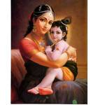 Mother Yasoda and Krishna Greeting Card Pack of 10