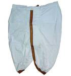 Dhoti White Ready-Made Trouser -- Fancy Borders