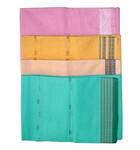 Sari, Plain Cotton -- Light Colors, Nice Border