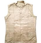 Waistcoat / Vest -- Raw Silk, Men's