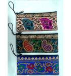 "Zip Bag With Finger Thread in Traditional Indian Designs (3.5"" x  7.9"")"