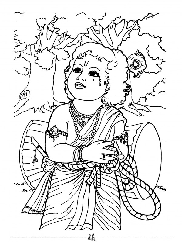 Krishna with sudama free colouring pages for Coloring pages of krishna