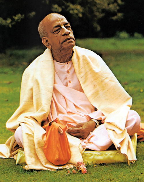 Srila Prabhupada at Bhaktivedanta Manor London