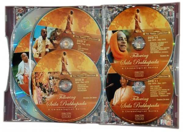 Following Srila Prabhupada Inside DVD set case
